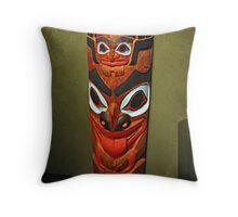 North American Totem Pole Throw Pillow