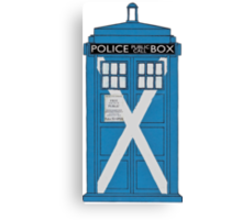 Scottish TARDIS. Canvas Print