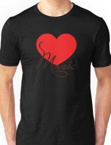 MUSIC HEART, Love Music, Classic, Dance, Electro, House, Techno, Hiphop Unisex T-Shirt