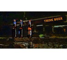 Think beer Photographic Print