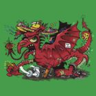 Red Dragon (T-shirt, hoodies etc) by stickypencil