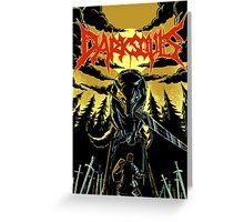 Unofficial Dark Souls Metal Band Poster Greeting Card