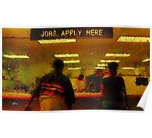 Jobs... Apply here Poster