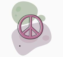 Peace symbol on pastel colors, sticker by Mhea
