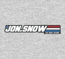 You Know Nothing, Jon Snow. Game of thrones & GI Joe logo parody. by 1to7