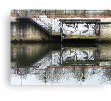 Manchester Canal Reflection Street Art Graffiti  Canvas Print