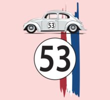 VW Beetle Herbie One Piece - Short Sleeve