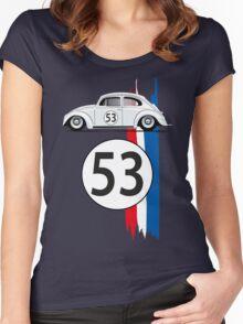 VW Beetle Herbie Women's Fitted Scoop T-Shirt