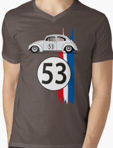 VW Beetle Herbie Mens V-Neck T-Shirt