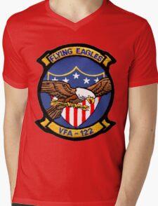 VFA-122 Flying Eagles Patch Mens V-Neck T-Shirt