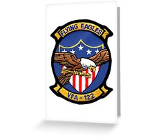 VFA-122 Flying Eagles Patch Greeting Card