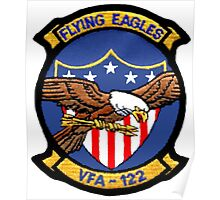 VFA-122 Flying Eagles Patch Poster