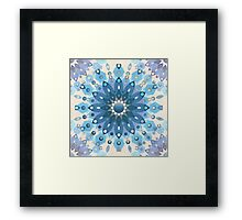 Frozen Mandala Flower Framed Print