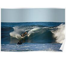 A Big, Carving Line Poster