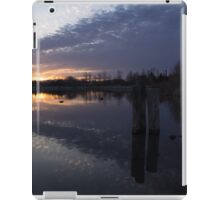 Sunset Sentinels - Three Pillars Guarding the Sundown Reflections iPad Case/Skin