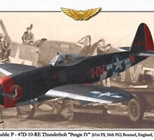 Republic P - 47D-10-RE Thunderbolt by A. Hermann