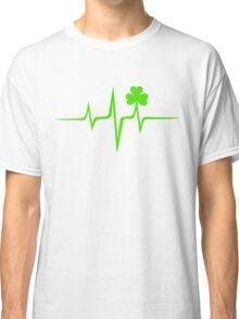 Music Pulse Irish, Frequency, Wave, Sound, Shamrock Classic T-Shirt