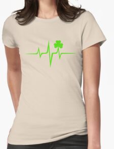 Music Pulse Irish, Frequency, Wave, Sound, Shamrock Womens Fitted T-Shirt