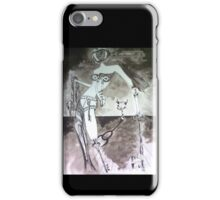 Woman carrying Melted Key  iPhone Case/Skin