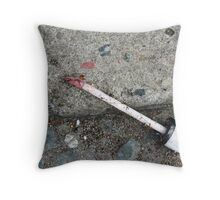 Manchester Dirty Street Lip Gloss Throw Pillow