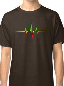 Music Pulse, Reggae, Sound Wave, Rastafari, Jah, Jamaica, Rasta Classic T-Shirt