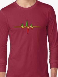 Music Pulse, Reggae, Sound Wave, Rastafari, Jah, Jamaica, Rasta Long Sleeve T-Shirt