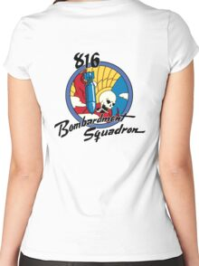 816th Bomb Squadron Insignia Women's Fitted Scoop T-Shirt