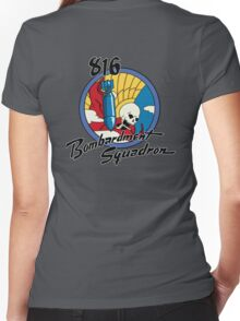 816th Bomb Squadron Insignia Women's Fitted V-Neck T-Shirt