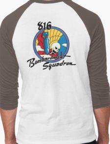 816th Bomb Squadron Insignia Men's Baseball ¾ T-Shirt