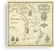 Old Maps Canvas Print