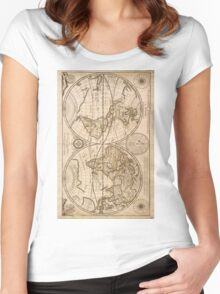 Old Maps Women's Fitted Scoop T-Shirt