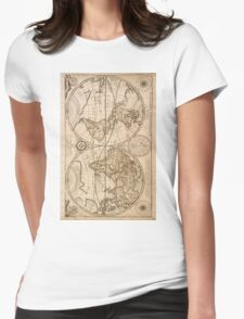 Old Maps Womens Fitted T-Shirt