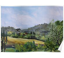 Valley in Galluzzo southern part of Florence Italy Poster