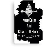 Sword Art Online 100 Floors Canvas Print
