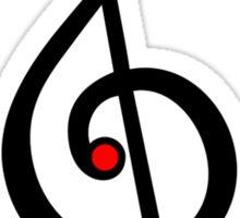 MUSIC CLEF HEART, Love, Music, Treble Clef, Classic Sticker