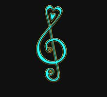 MUSIC CLEF HEART, Love, Note, Music, Treble Clef, Classic T-Shirt