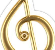MUSIC CLEF HEART, Love, Note, Music, Treble Clef, Classic Sticker