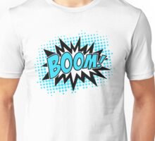 COMIC BOOM, Speech Bubble, Comic Book Explosion, Cartoon Unisex T-Shirt