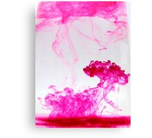 Pink ink Canvas Print