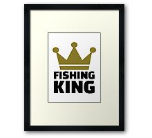 Fishing king crown Framed Print