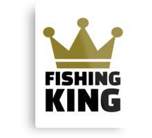 Fishing king crown Metal Print