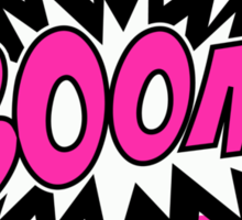COMIC BOOM, Speech Bubble, Comic Book Explosion, Cartoon Sticker