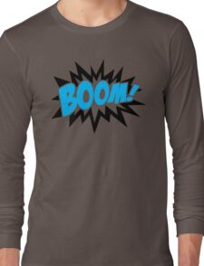 COMIC BOOM, Speech Bubble, Comic Book Explosion, Cartoon Long Sleeve T-Shirt