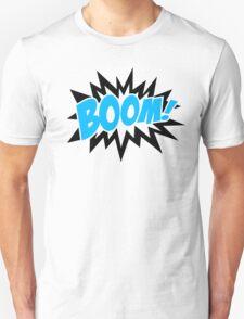COMIC BOOM, Speech Bubble, Comic Book Explosion, Cartoon Unisex T-Shirt