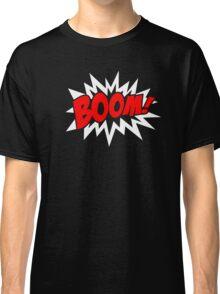 COMIC BOOM, Speech Bubble, Comic Book Explosion, Cartoon Classic T-Shirt