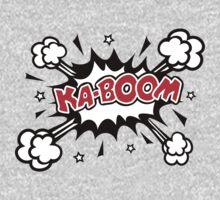 COMIC KA-BOOM, Speech Bubble, Comic Book Explosion, Cartoon One Piece - Long Sleeve
