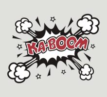 COMIC KA-BOOM, Speech Bubble, Comic Book Explosion, Cartoon by boom-art