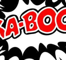 COMIC KA-BOOM, Speech Bubble, Comic Book Explosion, Cartoon Sticker