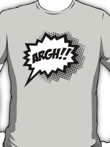 COMIC ARGH! Speech Bubble, Comic Book Explosion, Cartoon T-Shirt