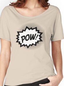 COMIC POW! Speech Bubble, Comic Book Explosion, Cartoon Women's Relaxed Fit T-Shirt